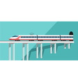 Travel by train vector image