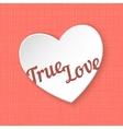true love 3d paper heart eps 10 vector image vector image