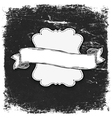vintage grunge bw banner vector image