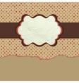 Vintage polka dot design EPS 8 vector image vector image