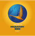 world migratory bird day vector image