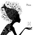 Zodiac sign pisces fashion girl vector image vector image