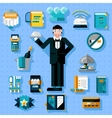 Restaurant Services Icons Set vector image
