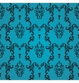 seamless blue pattern with art ornament vector image