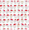 the faces of santa vector image