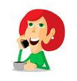 Woman on the phone vector image