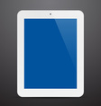 Realistic white tablet pc vector image