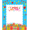 Gift boxes with Happy New Year Decoration vector image