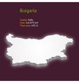 3d map bulgaria vector image