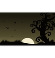 At Afternoon Halloween scenery bat and dry tree vector image vector image