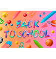 back to school template social media community vector image vector image