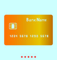 bank cit card it is icon vector image vector image