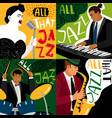banners jazz band play on musical instruments vector image vector image