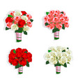 beautiful wedding bouquet vector image