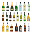 big set of different bottles vector image vector image