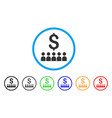 business education rounded icon vector image vector image