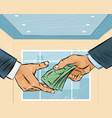 businessman giving money vector image