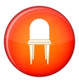 Chair icon flat style vector image