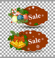 christmas balls sale special offer tag vector image vector image