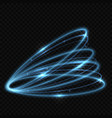 circle neon light tracing effect vector image vector image