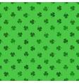 clover leaf seamless background vector image
