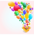 Colorful Balloon Abstract background vector image vector image