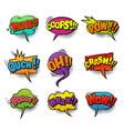 comic bright speech bubbles set vector image vector image