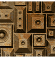 composition grunge old rusty speaker sound system vector image vector image