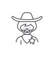 cowboy line icon concept cowboy linear vector image vector image