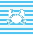 Crab nautical emblem image