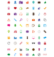Creative colorful icons collection vector image
