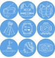 Diving sport icons collection vector image vector image