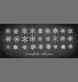 doodle snowflakes hand drawn with white chalks vector image vector image