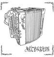 drawing two-row accordion