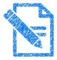 edit records grunge icon vector image vector image