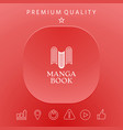 elegant logo with book symbol - like the letter m vector image vector image