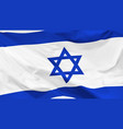 flag state israel vector image vector image