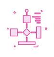 flowchart icon design vector image vector image