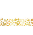 gold foil leaves seamless border foliage vector image vector image