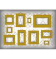 Golden frames on ornamental background vector image vector image