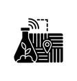 gps soil sampling black glyph icon vector image vector image