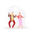 grandparents dancing happy elderly couple party vector image