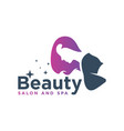 hair salon and beauty logo vector image vector image