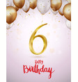 happy birthday celebrations with number vector image