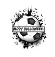happy halloween and soccer ball vector image vector image