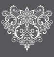 heart lace design - valentines day vector image vector image