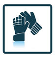 Icon of football goalkeeper gloves vector image