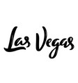 las vegas hand-lettering calligraphy hand drawn vector image