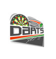 logo for darts game vector image