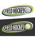 logos for field hockey vector image vector image
